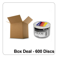 Ritek/Traxdata DVD-R 8x White Full Inkjet Printable - Box Deal 600 Discs