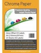 Chroma Gloss Offset CD DVD Inkjet Labels 50 Pack