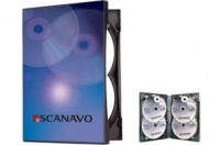 Scanavo Black 4 Disc Overlap DVD Cases - (Single Case)