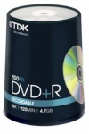 TDK Branded 16x DVD+R 100 Spindle