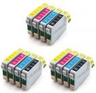 CVB Media Compatible Epson TO711-714 Multi-Pack B,C,M,Y Cartridges (12 Ink Bonus Pack)