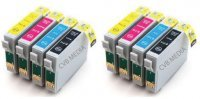 CVB Media Compatible Epson TO711-714 Multi-Pack B,C,M,Y Cartridges (8 Ink Bonus Pack)